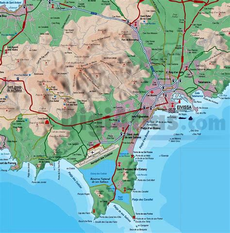 printable ibiza road map vectorized maps digital maps increase search engine