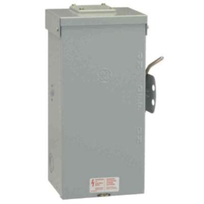 Ge 100 Amp 240 Non Fused Emergency Power Transfer