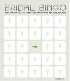 bridal shower bingo templates 12 free bridal shower bingo template