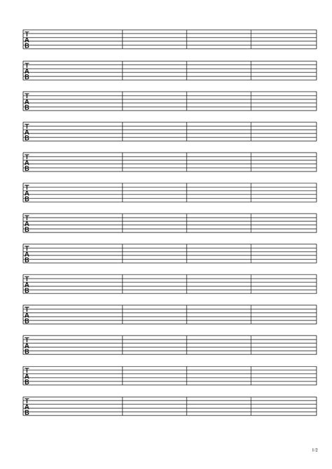 printable staff paper for guitar 15 best images about tabature paper printable on pinterest