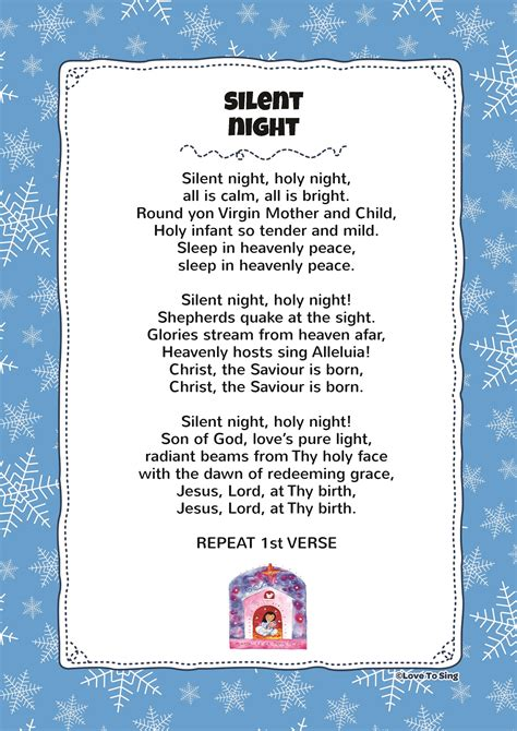 simple boat 7 little words silent night kids video song with free lyrics activities