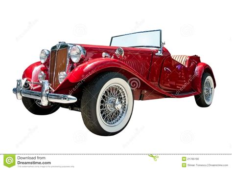 vintage convertible vintage sport retro convertible car isolated stock photo