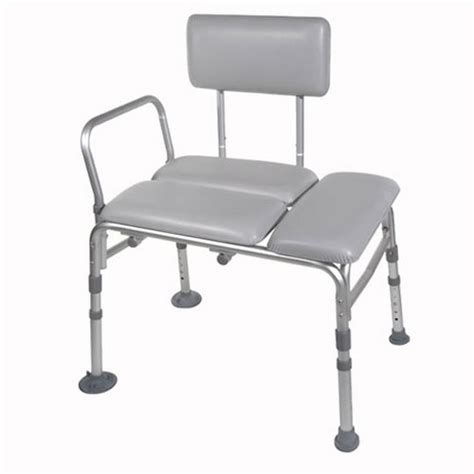 drive medical k d padded transfer bench shower chair