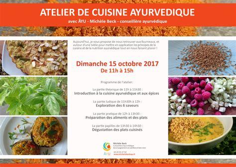 cuisine ayurvedique atelier de cuisine ayurvedique le dimanche 15 octobre de