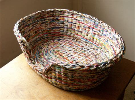 How To Make A Paper Basket Weave - newspaper woven basket gallery
