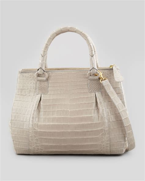 Nancy Gonzalez Latticework Crocodile Tote by Nancy Gonzalez Executive Doublezip Crocodile Tote Bag