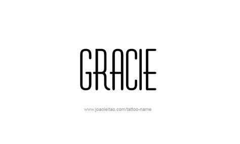gracie name tattoo designs