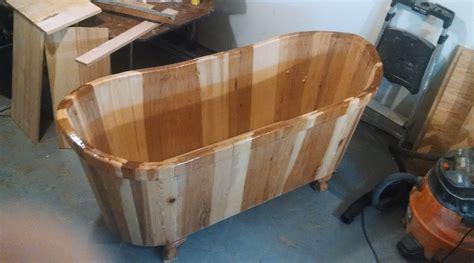 how to make wooden bathtub wooden bathtubs nifty homestead