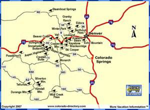colorado colorado downhill skiing snowboarding map ski