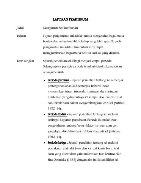 contoh pembuatan laporan praktikum biologi contoh laporan praktikum biologi difusi osmosis job seeker