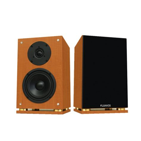 fluance bookshelf speaker sx6 brown 2 speakers