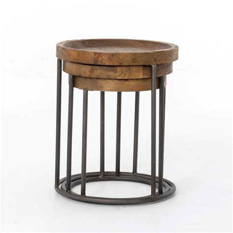 Tables With Tristan Nesting Tables Industrial Home