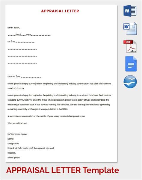 sample letter appraisals ms word google