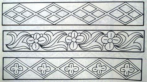 gambar desain yang mudah di tiru gambar bunga yang mudah di gambar sketsa motif batik yang
