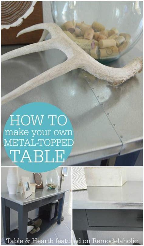 remodelaholic diy metal table top tutorial - Make Your Own Table L