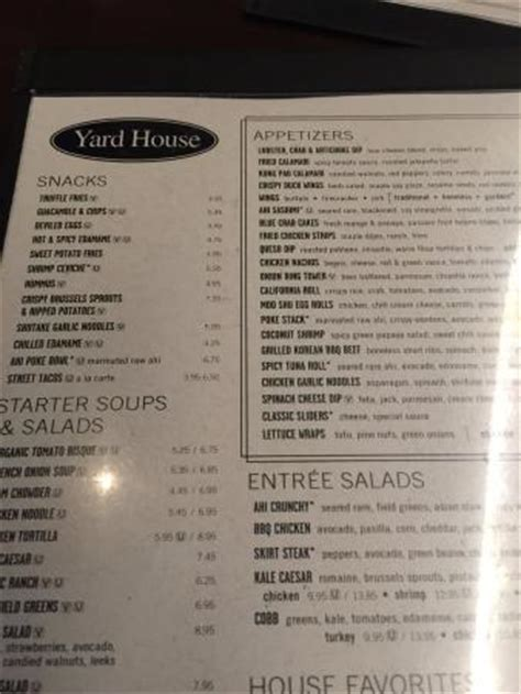 yard house happy hour menu pepper crusted filet picture of yard house las vegas tripadvisor