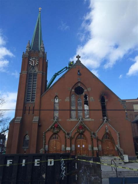 fdny queens church fire started   organ ny daily