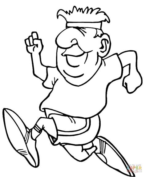 coloring pages of a person running coloriage coureur coloriages 224 imprimer gratuits