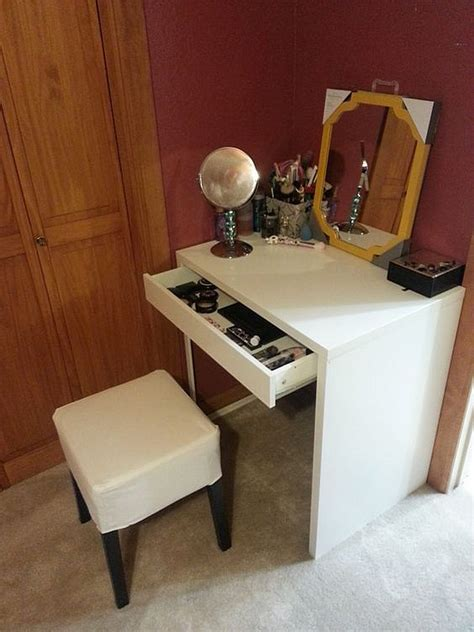 Small Vanity Desk Small Makeup Desk Makeup Desk For A Small Area Desk From Target Drawers From Home Decorators