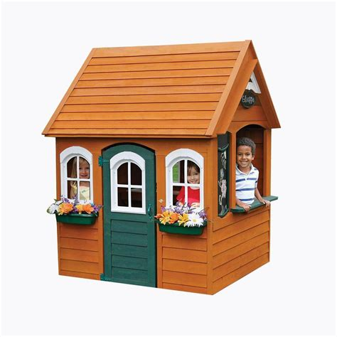 kidkraft bancroft wooden playhouse px  home depot