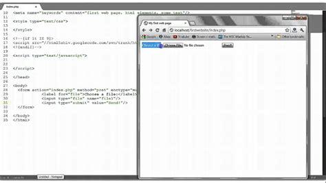 html tutorial upload file html tutorial 9 file upload form 123vid