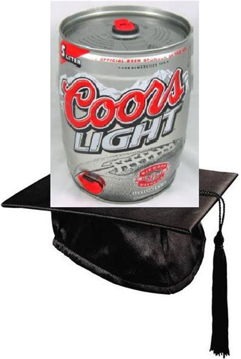 coors light mini keg bedazzled mortarboards dave from finley