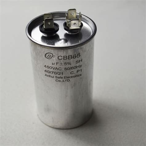 starting capacitor in ac ac motor capacitor air conditioner compressor start capacitor cbb65 450vac 40uf ebay