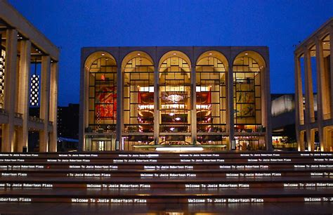 metropolitan opera house lincoln center nyc nyc welcome to josie robertson plaza and the