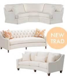 rounded sofa curved sofa on milo baughman modern sofa and