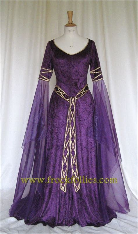 a celtic elvish pagan wedding gown with
