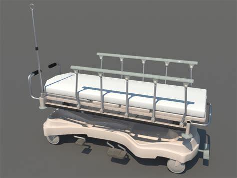 hospital transport stretcher 3d model realtime 3d models world