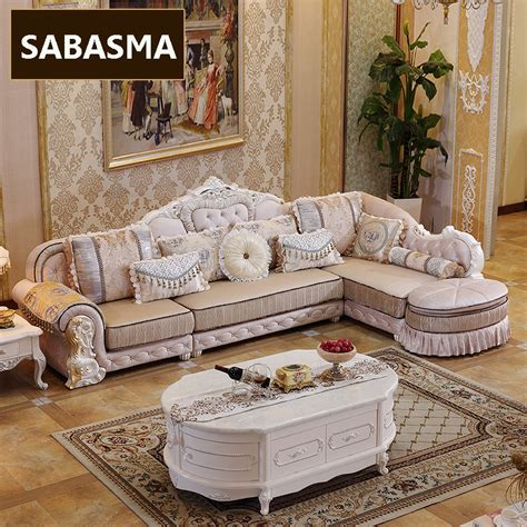 Living Room Chair And Ottoman Set 3 Pcs New Arrviel High Grade Fabric L Shape Sofa With Ottoman Living Room Furniture Sets In