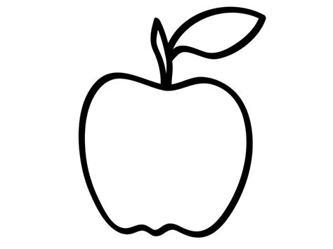 Apple Drawing Outline