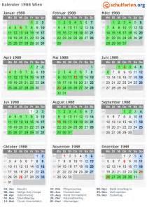 Kalender 2018 Schulferien Wien Kalender 1988 Wien