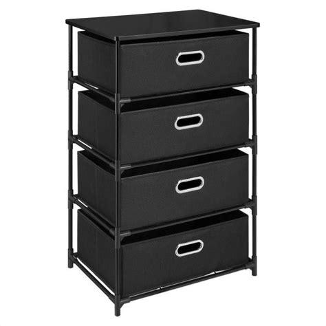 storage bin dresser 4 bin storage end table in black 7775096