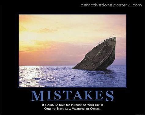 sunken boat puns demotivational poster sinking ship of your life is