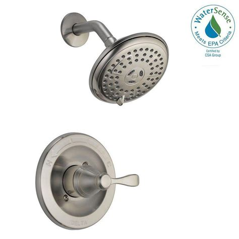 Three Handle Shower Faucet Brushed Nickel by Delta Porter Single Handle 3 Spray Shower Faucet In