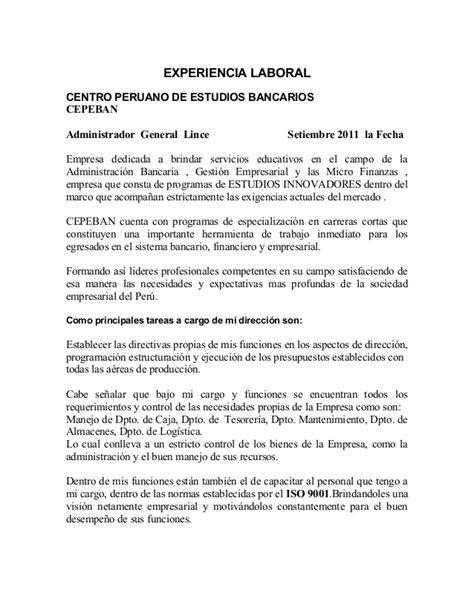 Modelo De Curriculum Vitae Lima Peru Modelo De Curriculum Vitae Lima Peru Modelo De