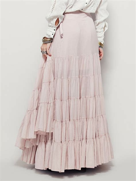 Ruffle Maxi Skirt free womens ruffles all around maxi skirt in pink
