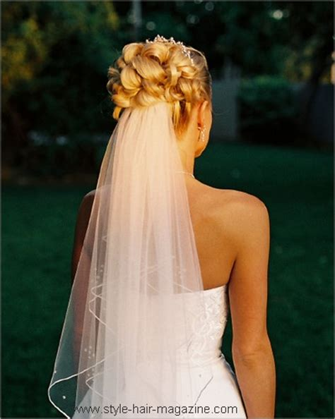 Wedding Hairstyles Hair Veil by Wedding Veil Hairstyles Photo Gallery