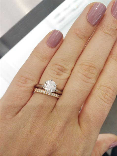 Show me your round solitaires with your wedding bands