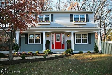 blue house with red door blue house red door for the home pinterest