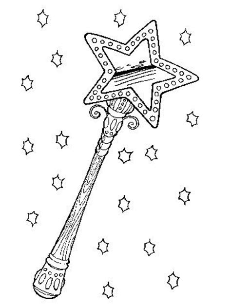 magic wand coloring page coloring pages