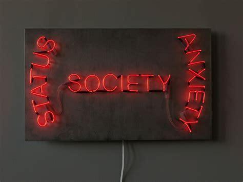 neon light installation on wall wall mounted neon light installation society by sygns