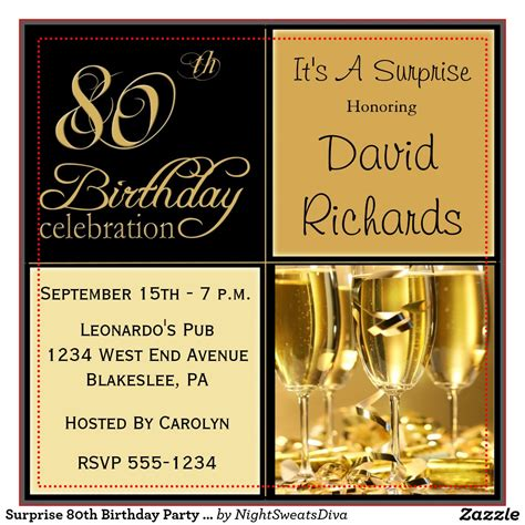 birthday invites 80th birthday invitations sle
