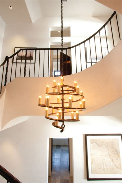 2 story foyer chandelier foyer chandelier a narrower foyer featuring stained glass