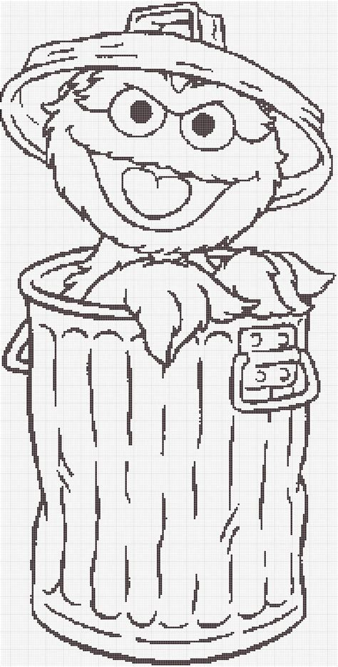 Oscar The Grouch Face Coloring Pages Oscar The Grouch Coloring Pages
