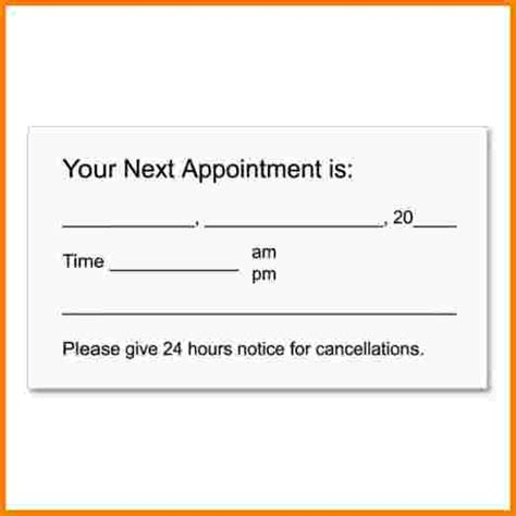 appointment slip template pay slip template sle