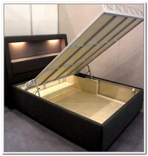 hydraulic storage bed frame home design ideas