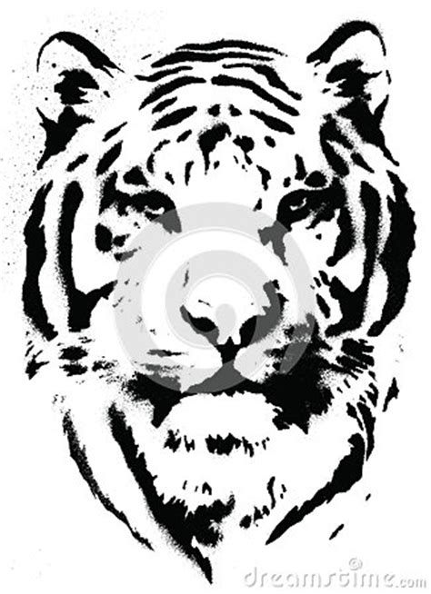 tiger stencil vector stock images image